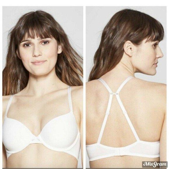 Auden Other - T-Shirt Bra Auden White Convertible Straps 32C NEW